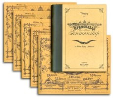 Spencerian Penmanship Theory Book plus Five Copy Books