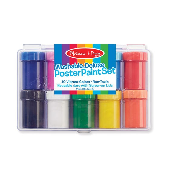 Deluxe Poster Paint Set (10 Colors)