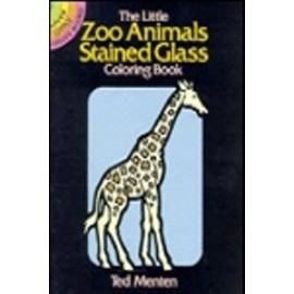 Dover Mini: Little Zoo Animals Stained Glass Coloring Book, The