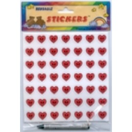 Heart Stickers (reusable)