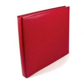 Binder - Classic Leather 12x12 Ring Real Red