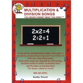 Multiplication, Division & Fractions Songs - DVD