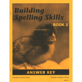 Building Spelling Skills Book 2 - Answer Key (2nd Edition)