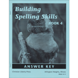 Building Spelling Skills Book 4 - Answer Key (2nd Edition)
