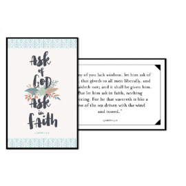 Ask of God Ask in Faith 3x4 Card (2017 Youth Theme)