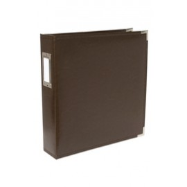 Binder - Classic Leather 12x12 Ring Dark Chocolate
