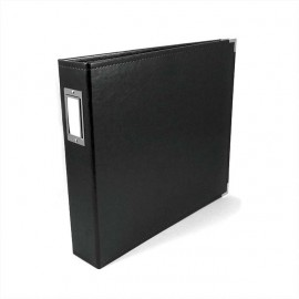 Binder - Classic Leather 12x12 Ring Black
