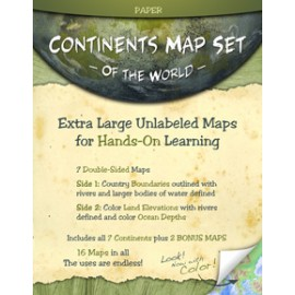 Map: Continents Set, laminated