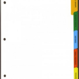 Dividers - 5 Index Tabs, Main Titles 3-ring