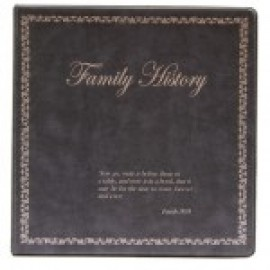 Binder - 3-ring 8.5x11 'Book of Remembrance', Charcoal