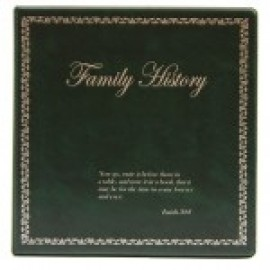 Binder - 3-ring 8.5x11 'Family History', Forest Green