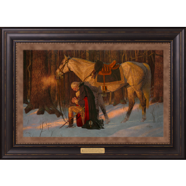 Prayer at Valley Forge GW Quote 25x35