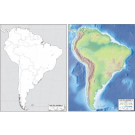 Map: South America, laminated