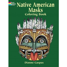 Native American Masks (Coloring Book)