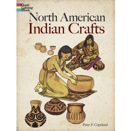 North American Indian Crafts (Coloring Book)