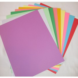 Paper - Flowers, Cardstock Assorted Colors  8.5x11 (50 pkg)