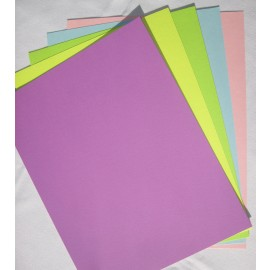 Paper - Spring Colors, Cardstock Assorted Colors  8.5x11 (50 pkg)