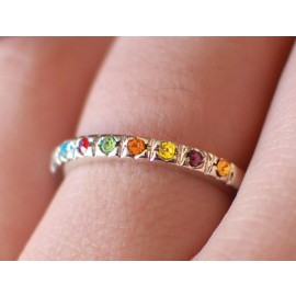Ring - YW Values Ring: Stand for Truth & Righteousness Value Colors Ring (size 8)