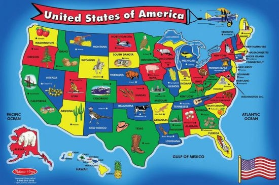 USA Map Floor Puzzle