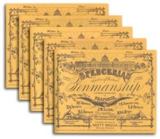Spencerian Penmanship Set of Five Copy Books