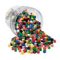 Centimeter Cubes, 500 count (assorted colors)