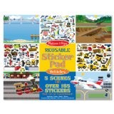 Sticker Pad - Vehicles w/Reusable Stickers