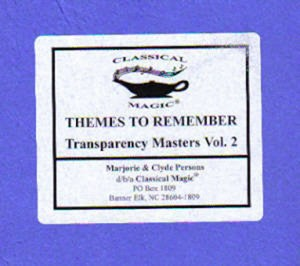 Themes To Remember, Vol. 2 - Reproducibles