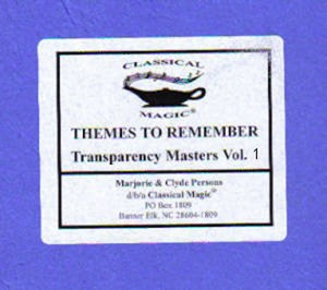 Themes To Remember, Vol. 1 - Reproducibles
