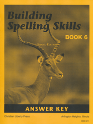Building Spelling Skills Book 6 - Answer Key