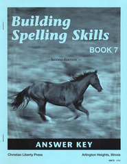 Building Spelling Skills Book 7 - Answer Key (2nd Edition)