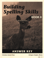 Building Spelling Skills Book 8 - Answer Key (2nd Edition)