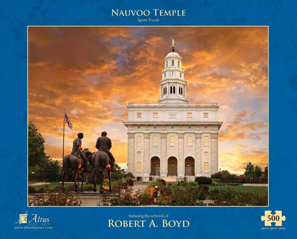 Nauvoo Temple Sunset with Statue - Puzzle