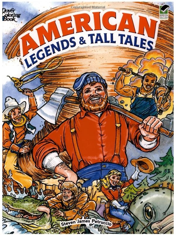 Coloring Book - American Legends & Tall Tales