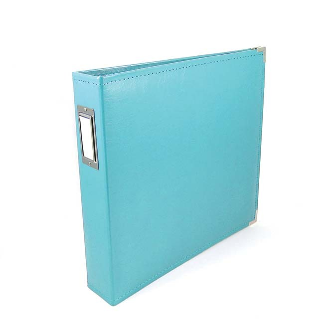 Binder - Classic Leather 12x12 Ring Aqua