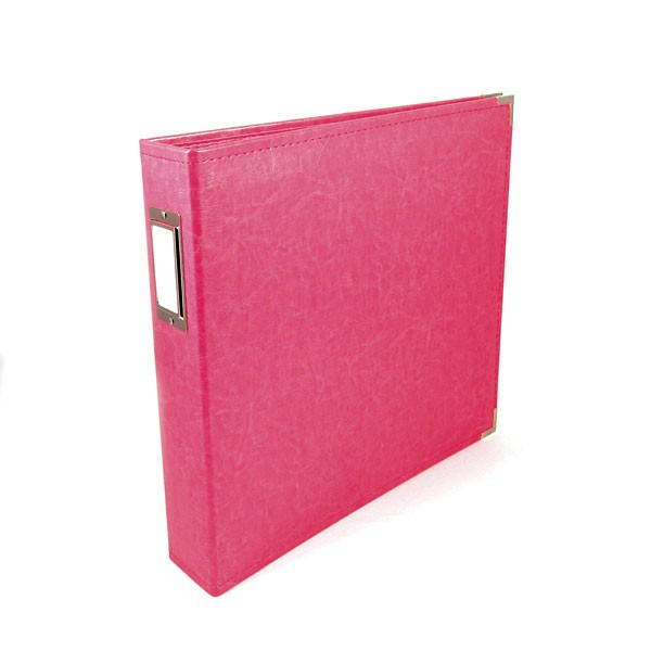 Binder - Classic Leather 12x12 Ring Strawberry