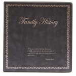 Binder - 3-ring 8.5x11 'Family History', Charcoal