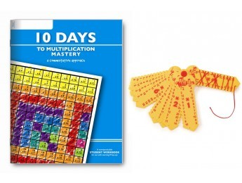 10 Days to Multiplication Workbook & Wrap-Up Combo