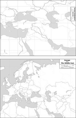 Map: Ancient Civilizations/Europe, Middle East, laminated