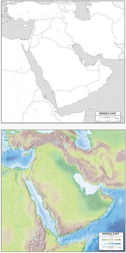 Map: Middle East, laminated