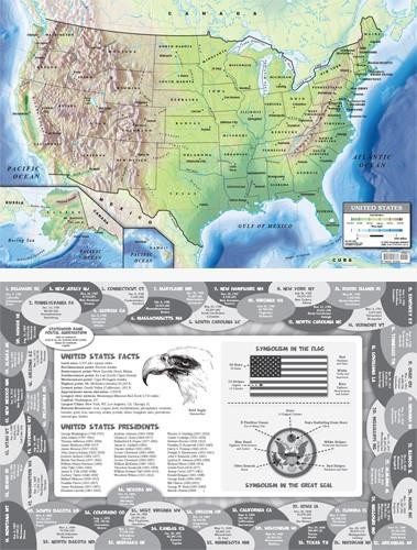 Map: U.S.A. Place Mat