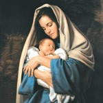 In the Arms of Mary 5x7