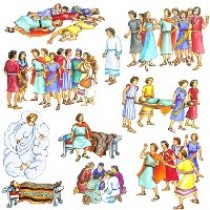 Alma the Younger & Four Sons of Mosiah (small) - Felt Story