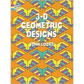 3-D Geometric Designs (Coloring Book)