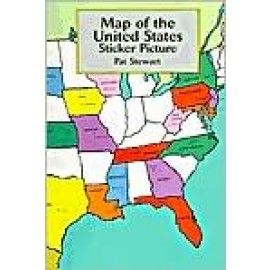 Map of the United States Sticker Picture