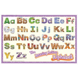 Amazing Action Alphabet Placemat