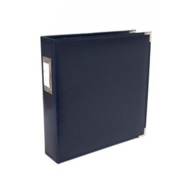 Binder - Classic Leather 12x12 Ring Navy