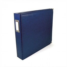 Binder - Classic Leather 12x12 Ring Country Blue