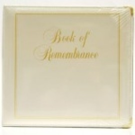 Binder - D-ring 8.5x11 'Book of Remembrance', Antique White