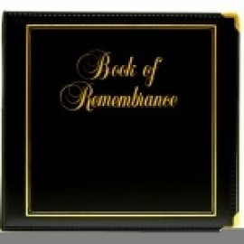 Binder - D-ring 8.5x11 'Book of Remembrance', Black