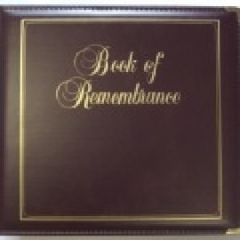 Binder - D-ring 8.5x11 'Book of Remembrance', Burgandy
